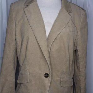 Ann Taylor Loft Tan Blazer Button Jacket Petite 14